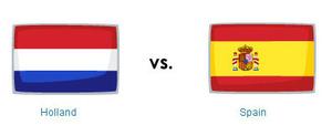 Abanderar barco holanda spain vs holland